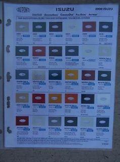 Auto Color Paint Chip Sample Chart DuPont Exterior Bumper Trim J