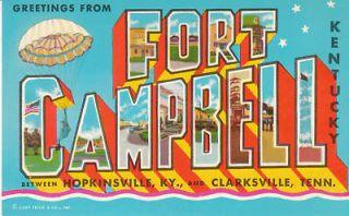 D4016 TN, Clarksville Fort Campbell Postcard
