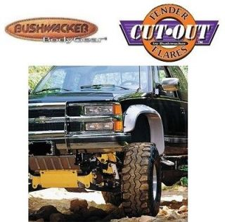 BUSHWACKER 40009 11 Front M Blk Cutout Style Fender Flares 88 00 Chevy