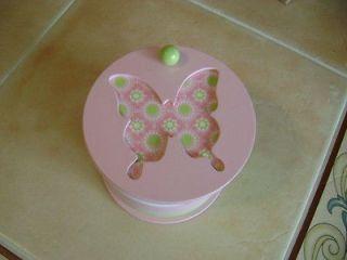 NEW Girls Pink Organizer Jewelry Box Butterfly theme w/ Mickey Mouse