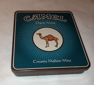 RARE Camel Cigarette Dark Mint Creamy Mellow Mint Tin Only Made in