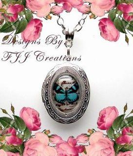 LAW~FRIENDS~Butterfly Locket NECKLACE POEM JEWELRY~*FREE GIFT BOX* #K4