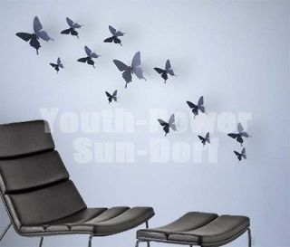 Butterflies Wall Stickers Home Room Office door window decoration