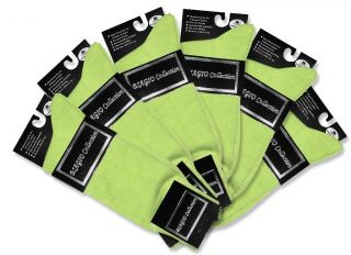 Pair of Biagio LIME GREEN Color Mens COTTON Dress SOCKS NEW