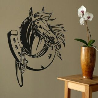 Horse Head Vinyl Wall Stickers / Wall Decals / Large Wall Art Murals