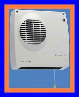2Kw Wall Pullcord Electric Bathroom Downflow Fan Heater