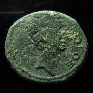 Divus Julius Caesar & Octavian AE23mm of Thessalonika. Rare
