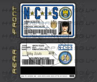 NCIS Forensic Specialist Abby Sciuto NEW Two Sided PVC ID Mag Stripe