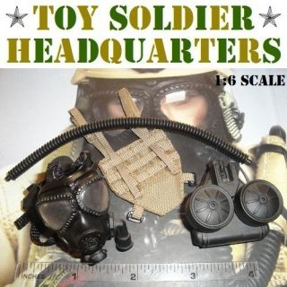 Soldier Story 1/6 Scale US Navy EODMU 11 M40A1 Gas Mask + C420 PAPR