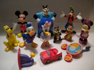 Mickey Mouse Clubhouse Toy Figure Lot & Book Play Set/Cake Topper