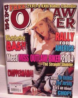 2004 Outlaw Biker Babe Calendar Magazine Harley Chopper