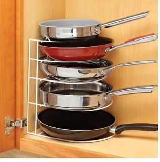 Frying Pan Organizer, Save Space And Cookware, Store In Cabinet