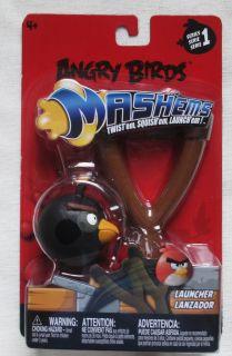 NEW SERIES 1 ANGRY BIRDS MASHEMS SLINGSHOT LAUNCHER W/ BLACK BIRD
