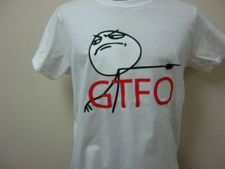 GET THE F OUT INTERNET MEME MENS T SHIRT FUNNY RAGE COMICS FREE
