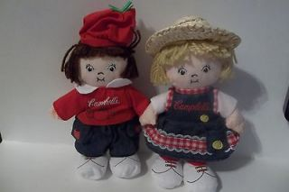 CAMPBELLS SOUP PLUSH BEAN BAG DOLLS~NEW
