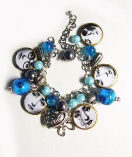 Art Piero Fornasetti plate face ball cluster bracelet