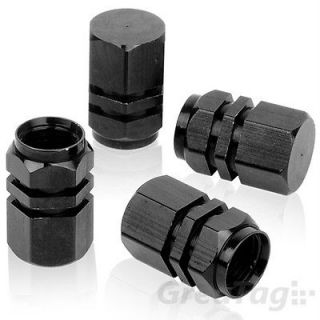 BLACK TIRE VALVES CAPS RIMS WHEEL DECORATION FOR CARS TRUCKS SUVS