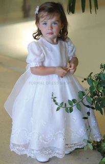 CHRISTENING DRESS WHITE GOWN BAUTIZO LA VIRGEN DE GUADALUPE EN CAPA