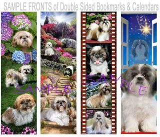 SHIH TZU Dog BOOKMARK or 2013 CALENDAR Figurine ART Ornament CARD  Not