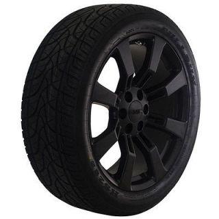 22 inch GMC truck matte black wheels rims tires package Yukon Denali
