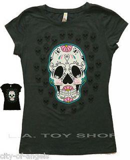 Candy Skull Mexican Spanish Skull Junior Funny T Shirt