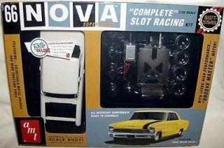 amt 1/25 1966 CHEVY NOVA SS COUPE SLOT CAR RACING KIT