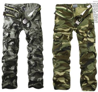 HOT CASUAL MILITARY ARMY CARGO CAMO COMBAT WORK PANTS TROUSERS SIZE 29
