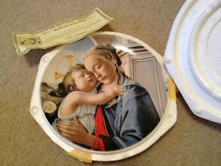 1981 Annual Christmas Stamp Art Plate Madonna and Child Plate#8679