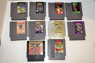 Lot of 10 Nintendo NES Games The Legend Of Zelda, Dragon Warrior