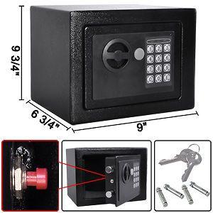 Safe Digital Electronic Gun Cash Box Home Security Cabinet Lock