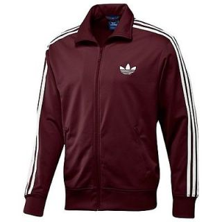 Mens Adidas Cardinal and White Track Suit Pants And Jacket New With