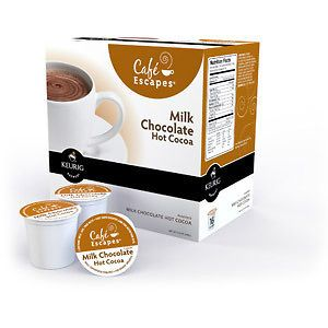 Keurig K Cups, Cafe Escapes Milk Chocolate Hot Cocoa, 16ct
