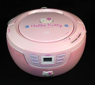 Hello Kitty Portable CD Player Stereo Radio