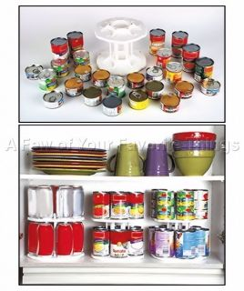 TIER CAN REVOLVING STORAGE RACK ORGANIZE PANTRY CABINET FRIDGE SPACE