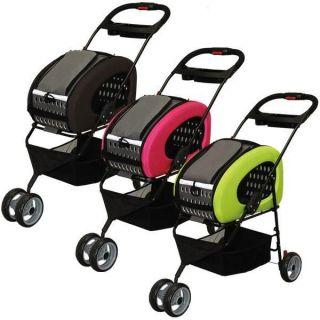 Adjustable 4 Way Pet Stroller Dog Cat Carrier, FPC 920, 3 Colors To