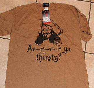 Captain Morgan Rum Are Ya Thirsty TAN Adult T Shirt