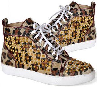 mens leopard print shoes