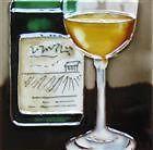 Tile Ceramic Art Home Decor Kitchen Bar Wine Bottle White Wine Glass