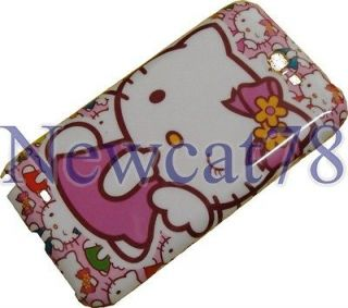 NOTE 2 II Mate N7100 Pink Hello Kitty Back Case + Screen Protector