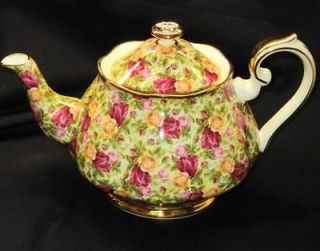 cardew old country roses teapot