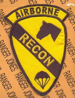 1st Air Cavalry Division ARBORNE RECON para tab patch