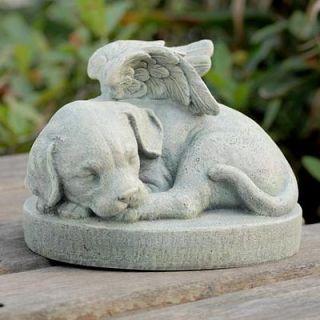 Angel Dog Stone Pet Memorial Garden Remembrance Decor