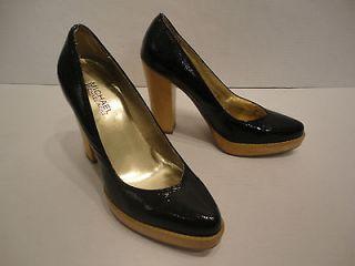 MICHAEL KORS Black Patent Leather Platform Heels 6.5