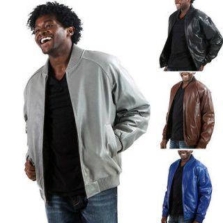 United Face Mens New Premium Leather Hip Hop Bomber Baseball Jacket