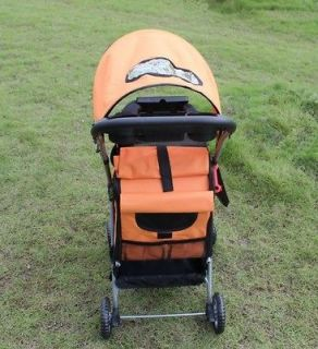 New Ultimate Orange 4 IN 1 Pet Dog Cat Stroller Carrier car Seat House