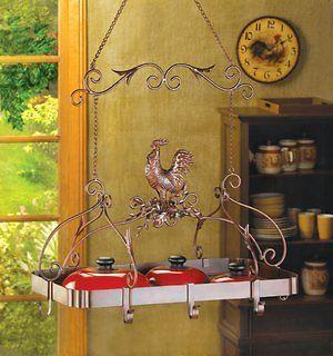 Chicken Rooster Plate Rack Paper Towel Holder Pot Rack Vase S&P Wire