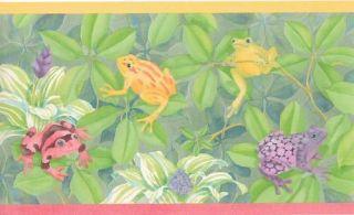 Colorful Rainforest Frogs Sale$8 Wallpaper Border 10