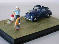 wonderful modelcar diora ma in scale 1/43   FIAT 500 TOPOLINO   b l u