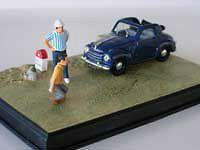 wonderful modelcar diora ma in scale 1/43   FIAT 500 TOPOLINO   b l u