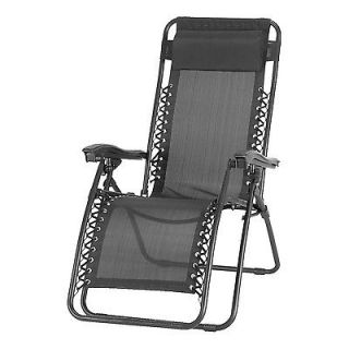 Astonica 50104385 Charcoal Anti Gravity Chair with Head Cushion